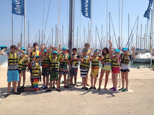 Children during the Spanish programme with sailing course