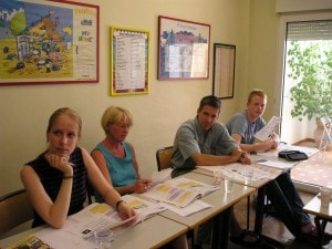Parents during their Spanish intensvie courses