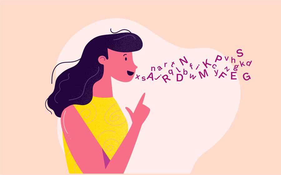 Chica pronunciando en español