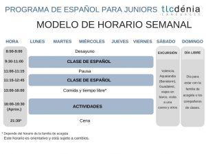 horario espanol juniors