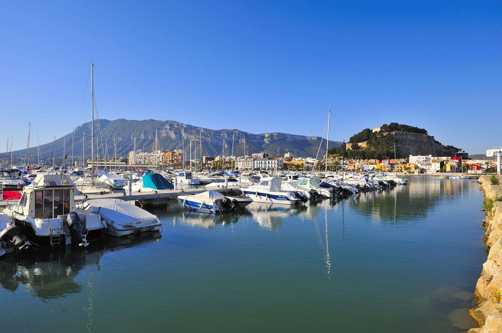 Boats in the port of Denia in Spain