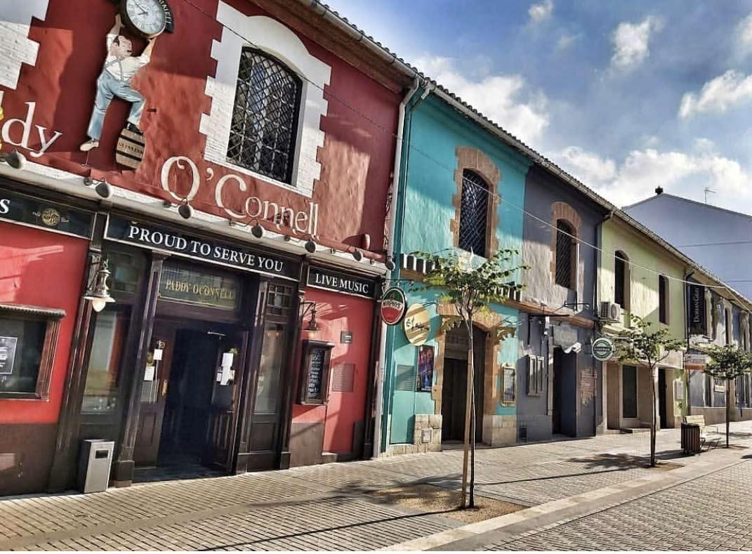 Street La Mar in Denia Spain