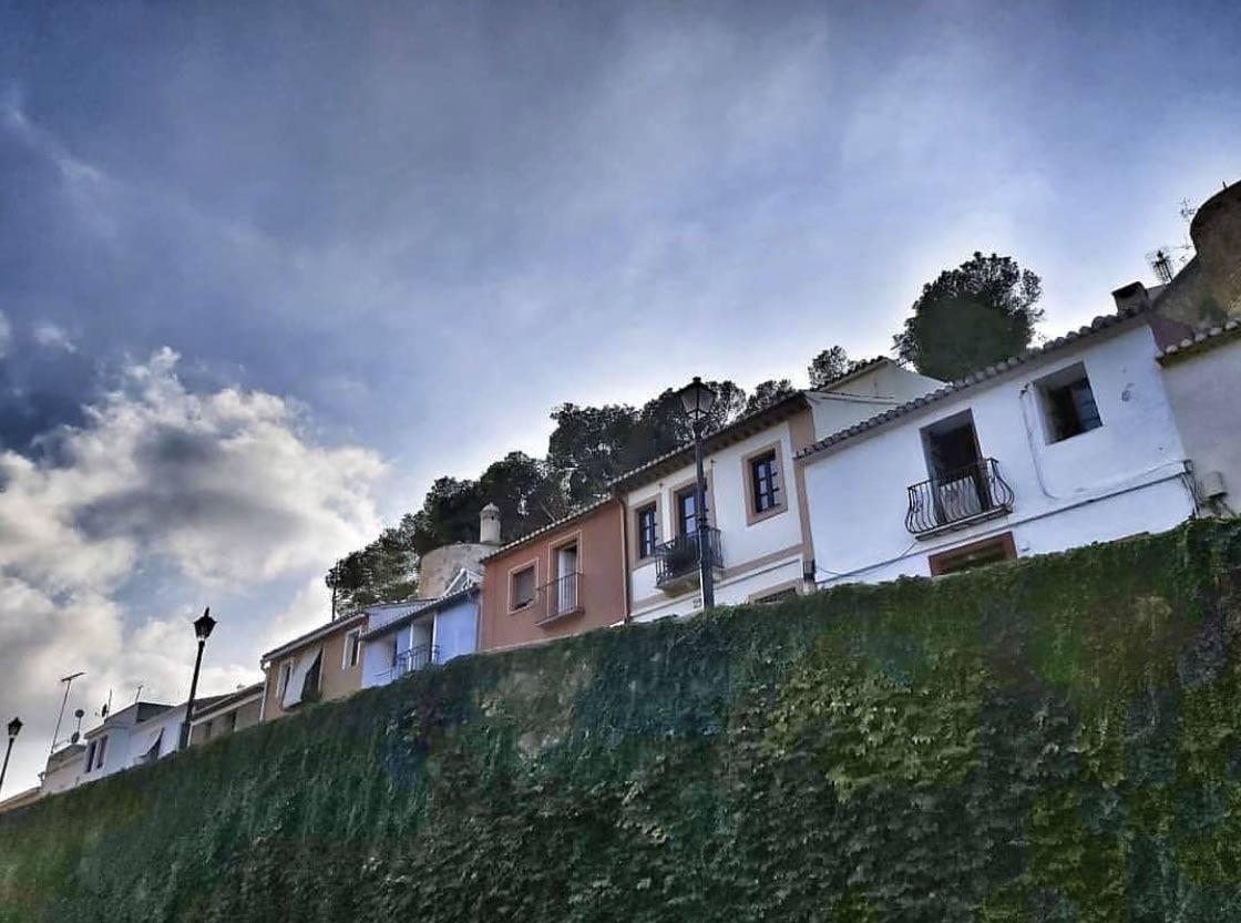 Castle wall in Denia Costa Blanca in Spain