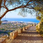 Views from the mountain in Denia Spain