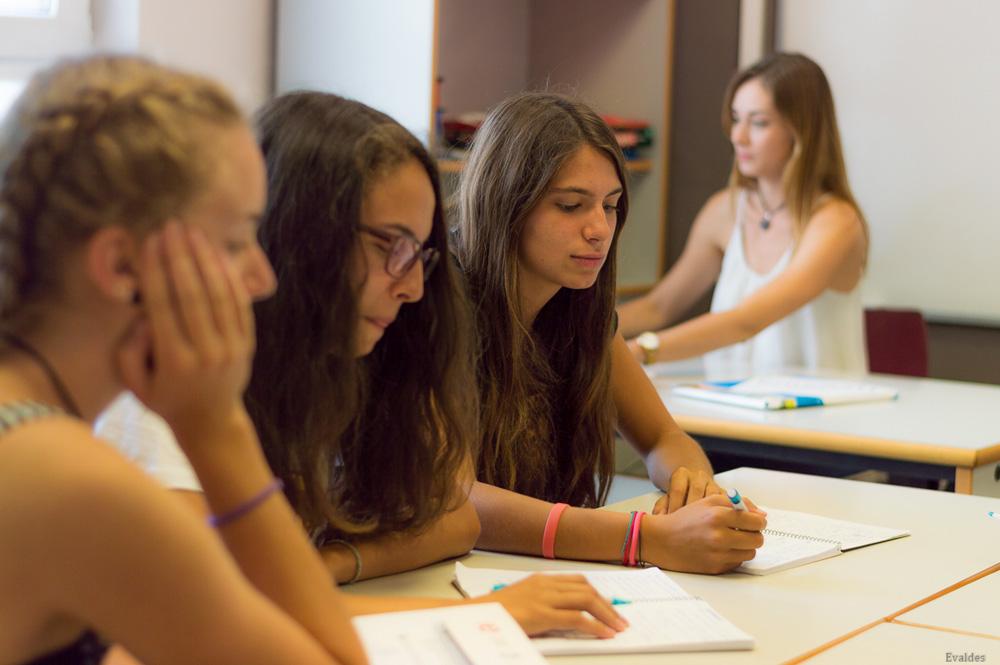 Juniors en un curso de español
