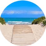alojamiento playa icono
