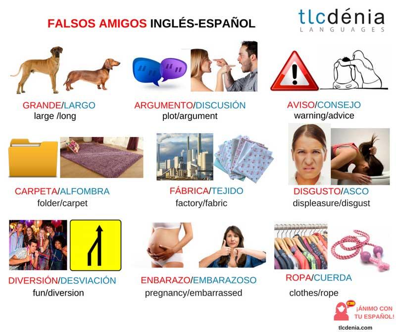 falsos amigos en español