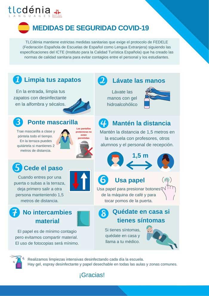 Medidas sanitarias en la escuela TLCdenia